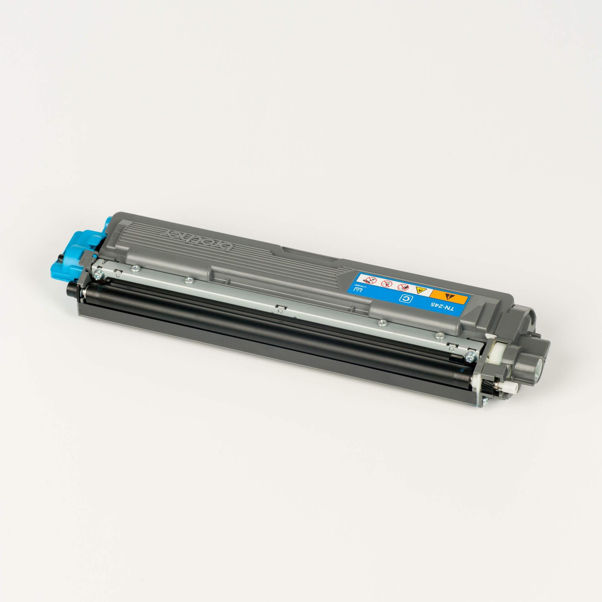 Auf dem Bild sehen Sie eine Brother TN-245C Blau Original Tonerkassette