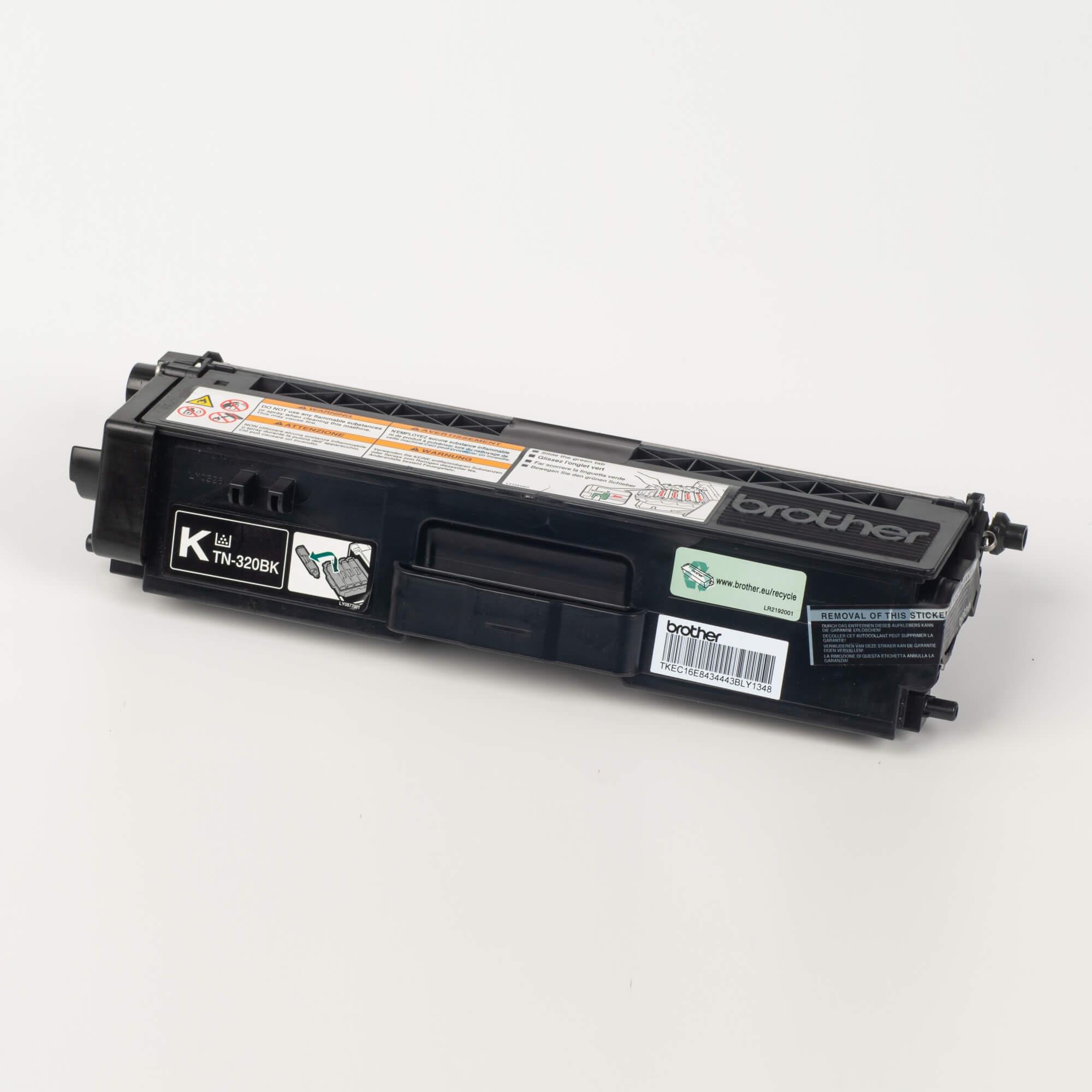 Auf dem Bild sehen Sie eine Brother TN-320BK Schwarz Original Tonerkassette