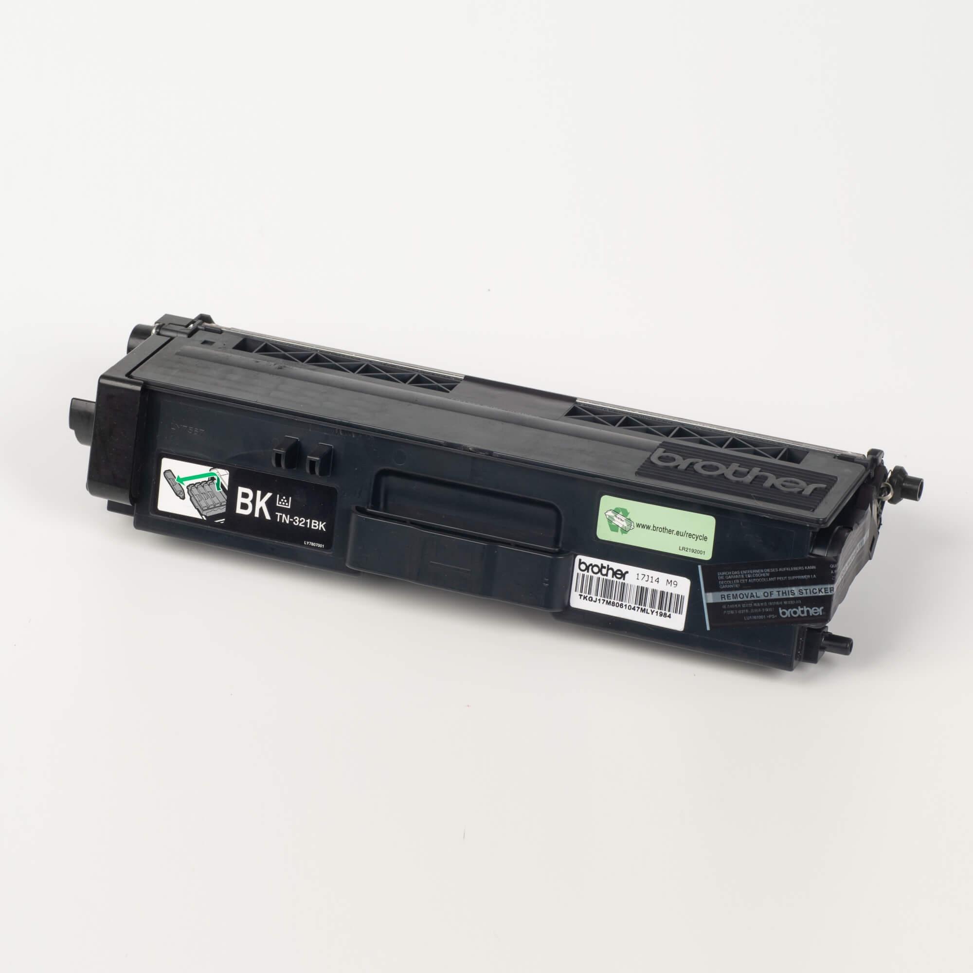 Auf dem Bild sehen Sie eine Brother TN-321BK Schwarz Original Tonerkassette