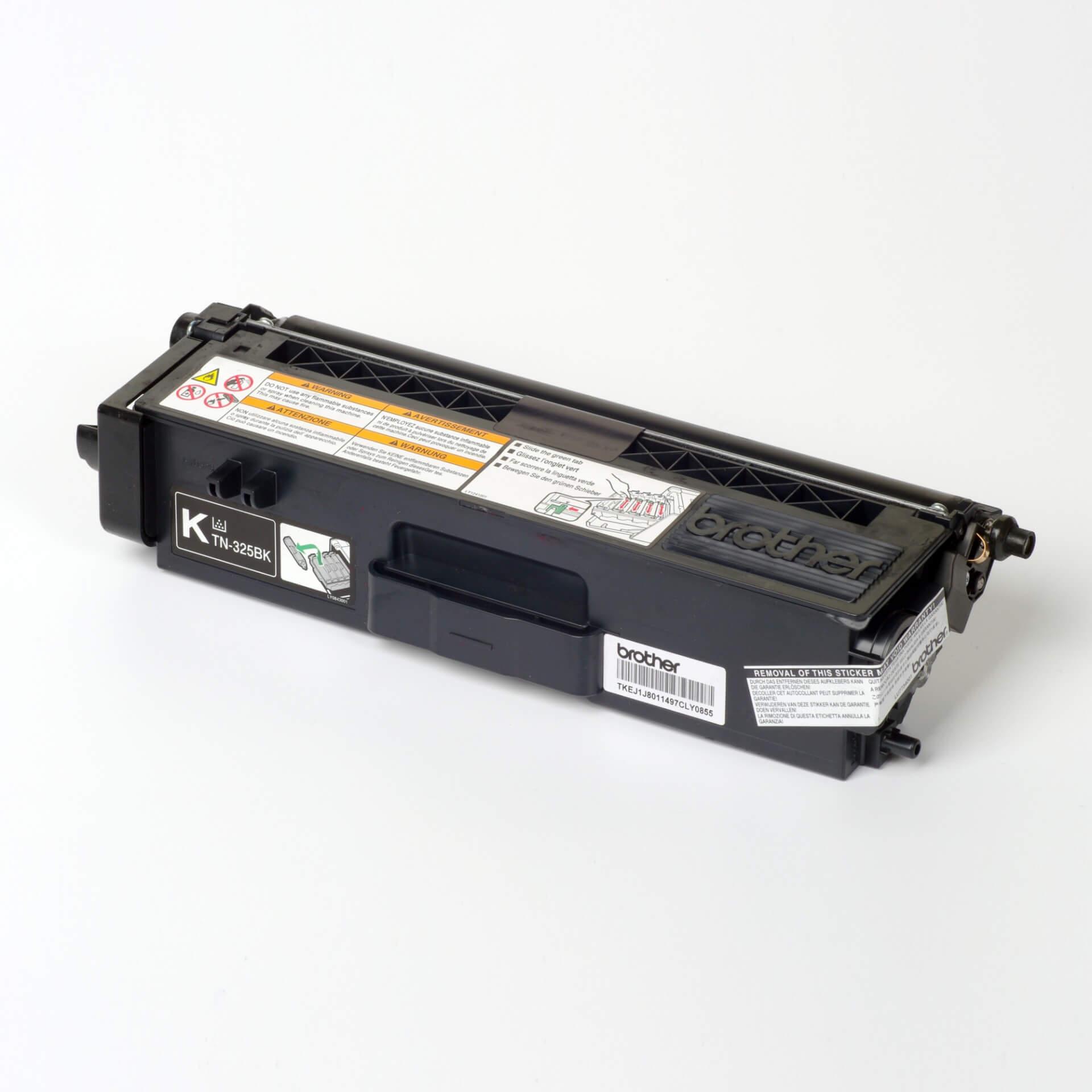 Auf dem Bild sehen Sie eine Brother TN-325BK Schwarz Original Tonerkassette