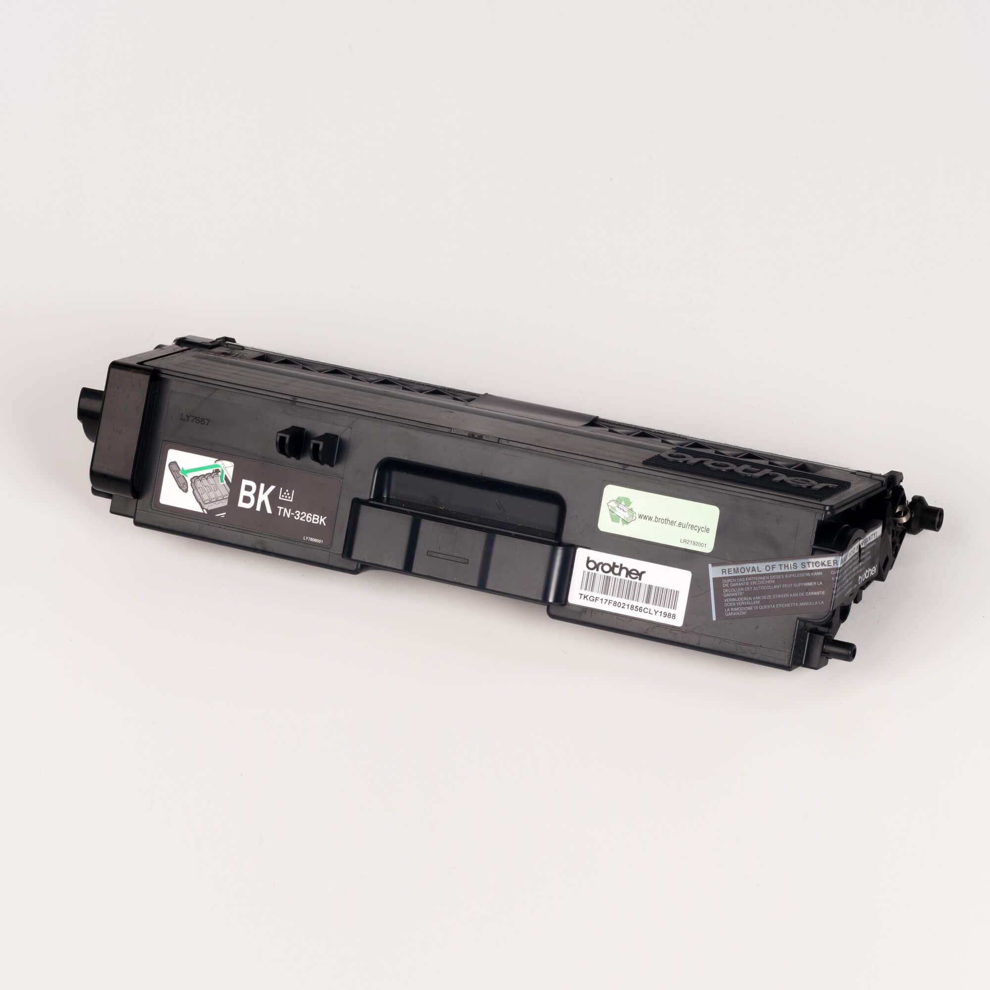 Auf dem Bild sehen Sie eine Brother TN-326BK Schwarz Original Tonerkassette