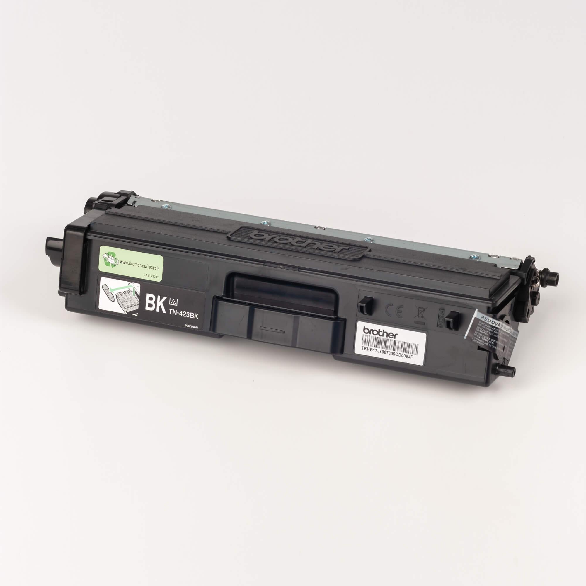 Auf dem Bild sehen Sie eine Brother Original Jumbo-Tonerkassette TN-423BK schwarz