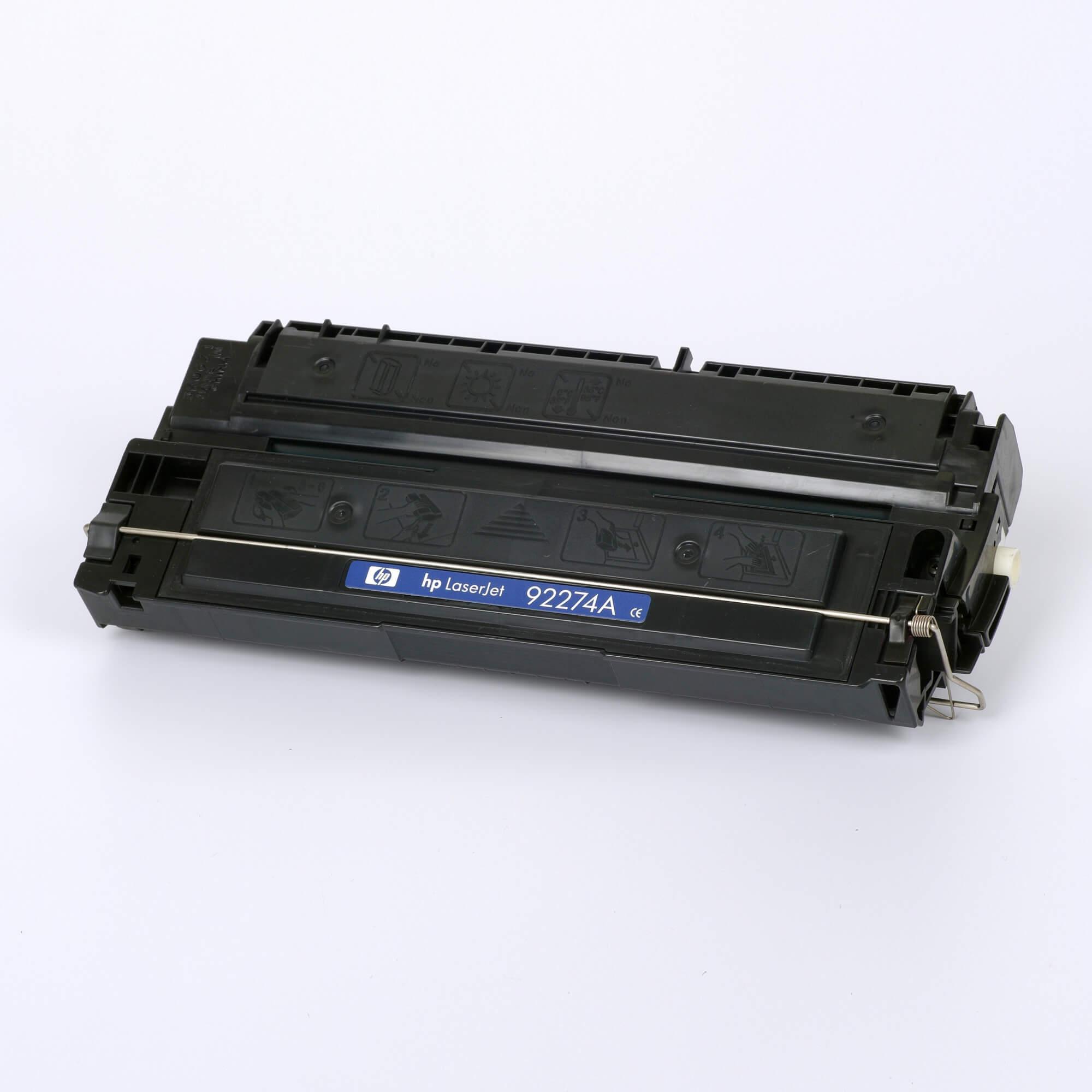 Auf dem Bild sehen Sie eine HP 74A (92274A) Schwarz Original Tonerkartusche
