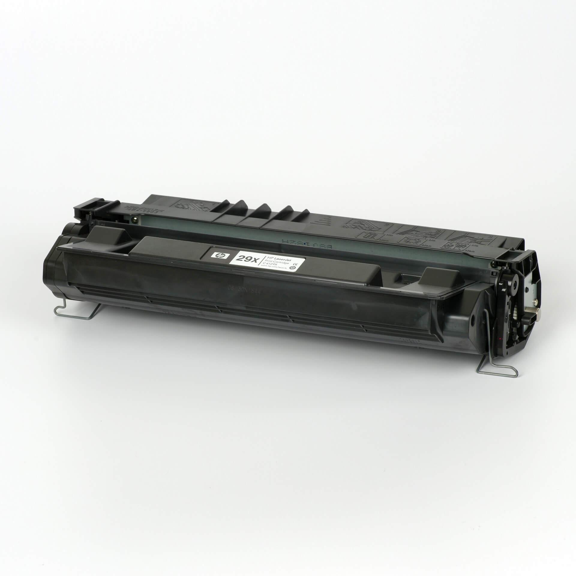 Auf dem Bild sehen Sie eine HP 29X (C4129X) Schwarz Original Toner