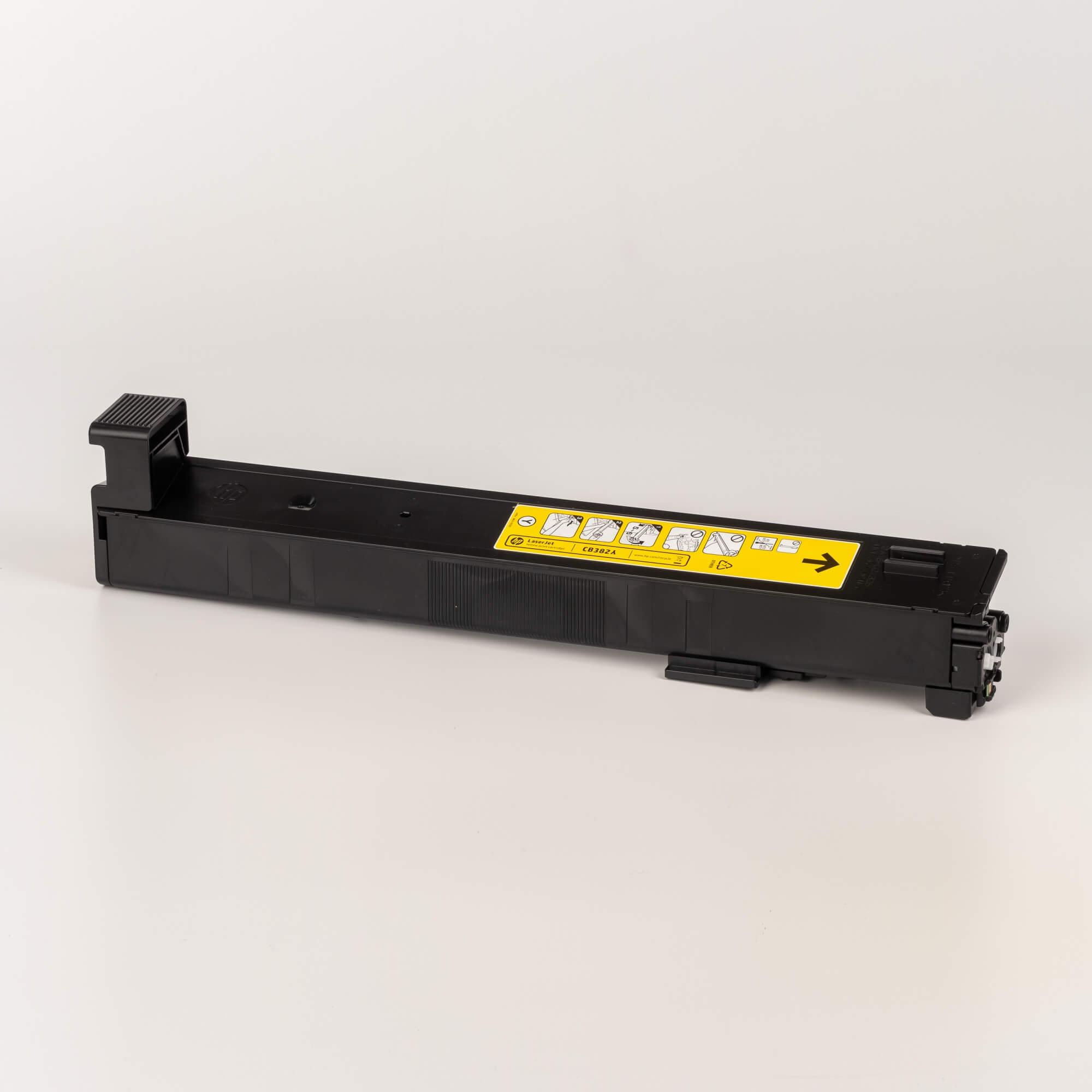 Auf dem Bild sehen Sie eine HP 823A (CB382A) Yellow Original Tonerkartusche