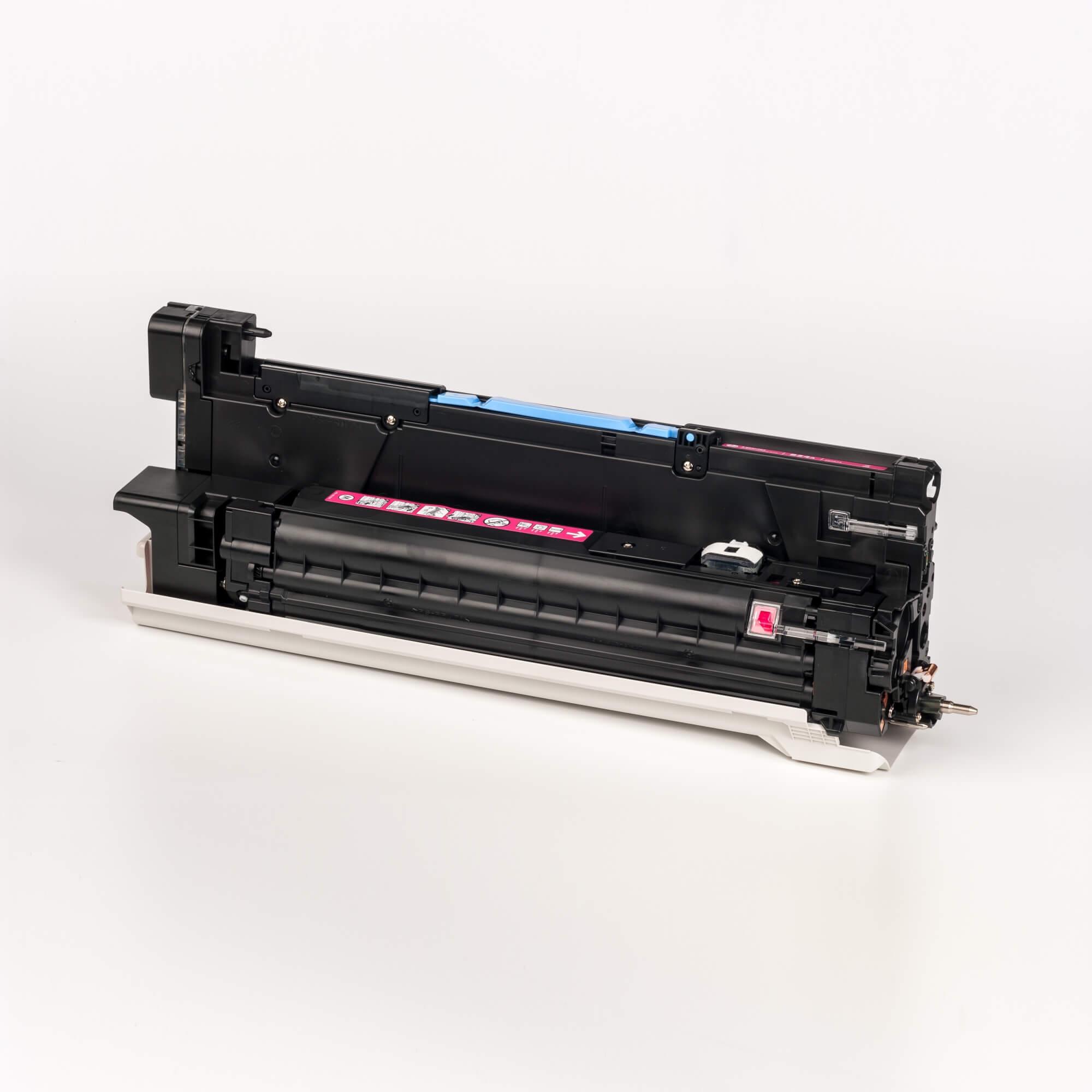 Auf dem Bild sehen Sie eine HP 824A (CB387A) Magenta Original Bildtrommel