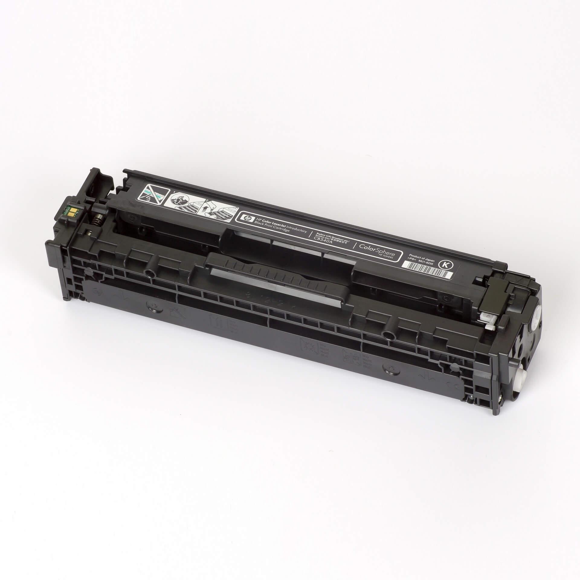 Auf dem Bild sehen Sie eine HP 125A (CB540A) Schwarz Original Toner