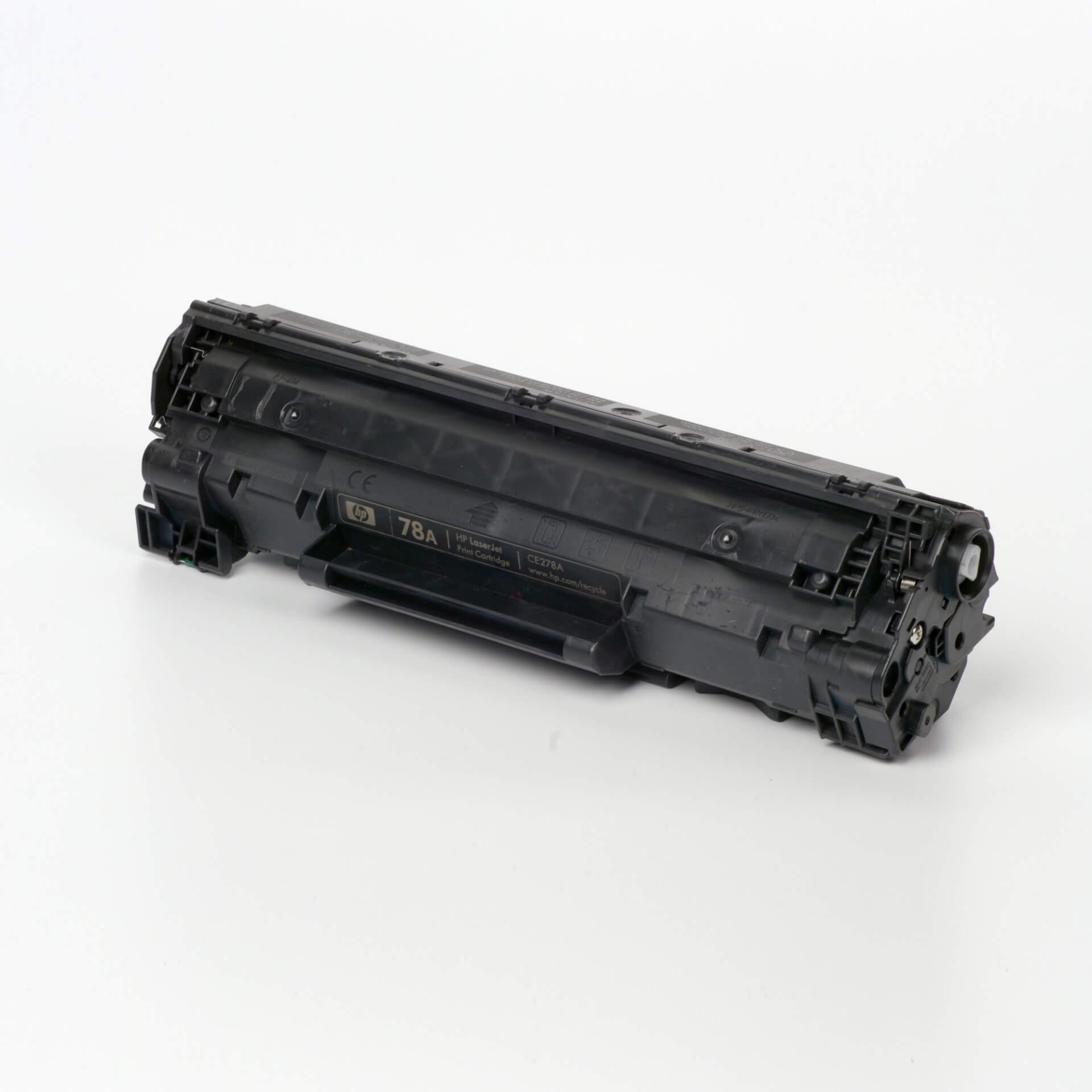 Auf dem Bild sehen Sie eine HP 78A (CE278A) Schwarz Original Tonerkartusche