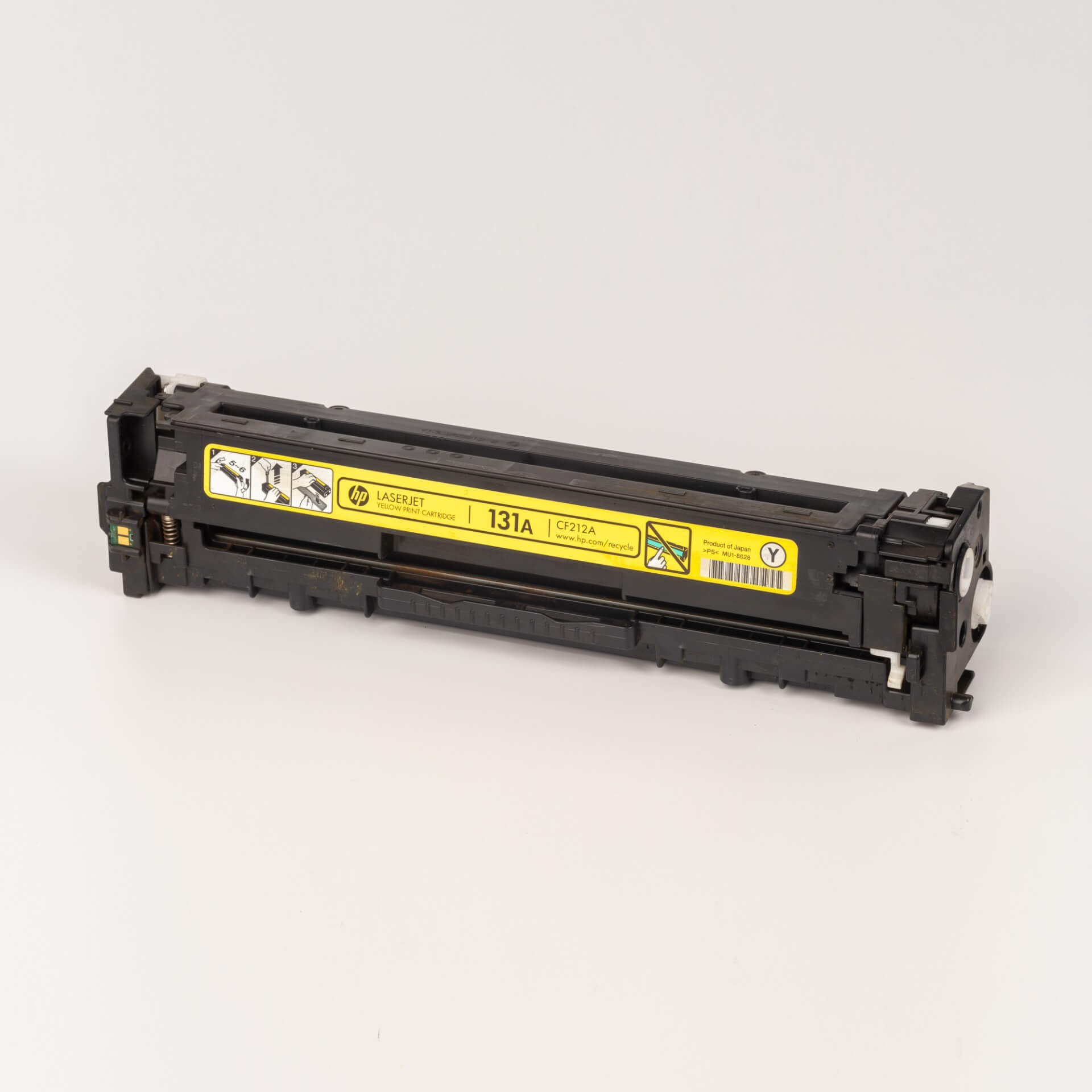 Auf dem Bild sehen Sie eine HP 131A (CF212A) Gelb Original Tonerkartusche