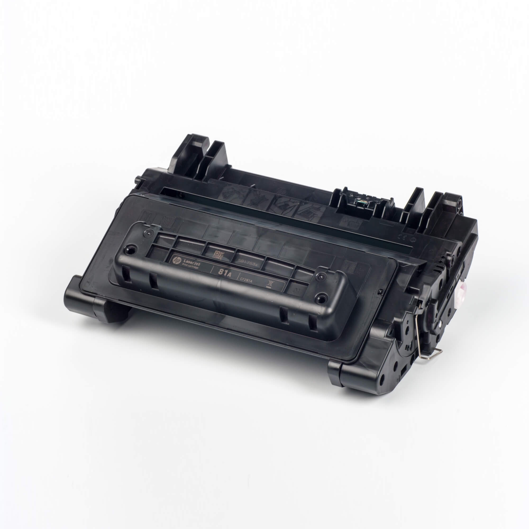 Auf dem Bild sehen Sie eine HP 81A (CF281A) Schwarz Original Tonerkartusche