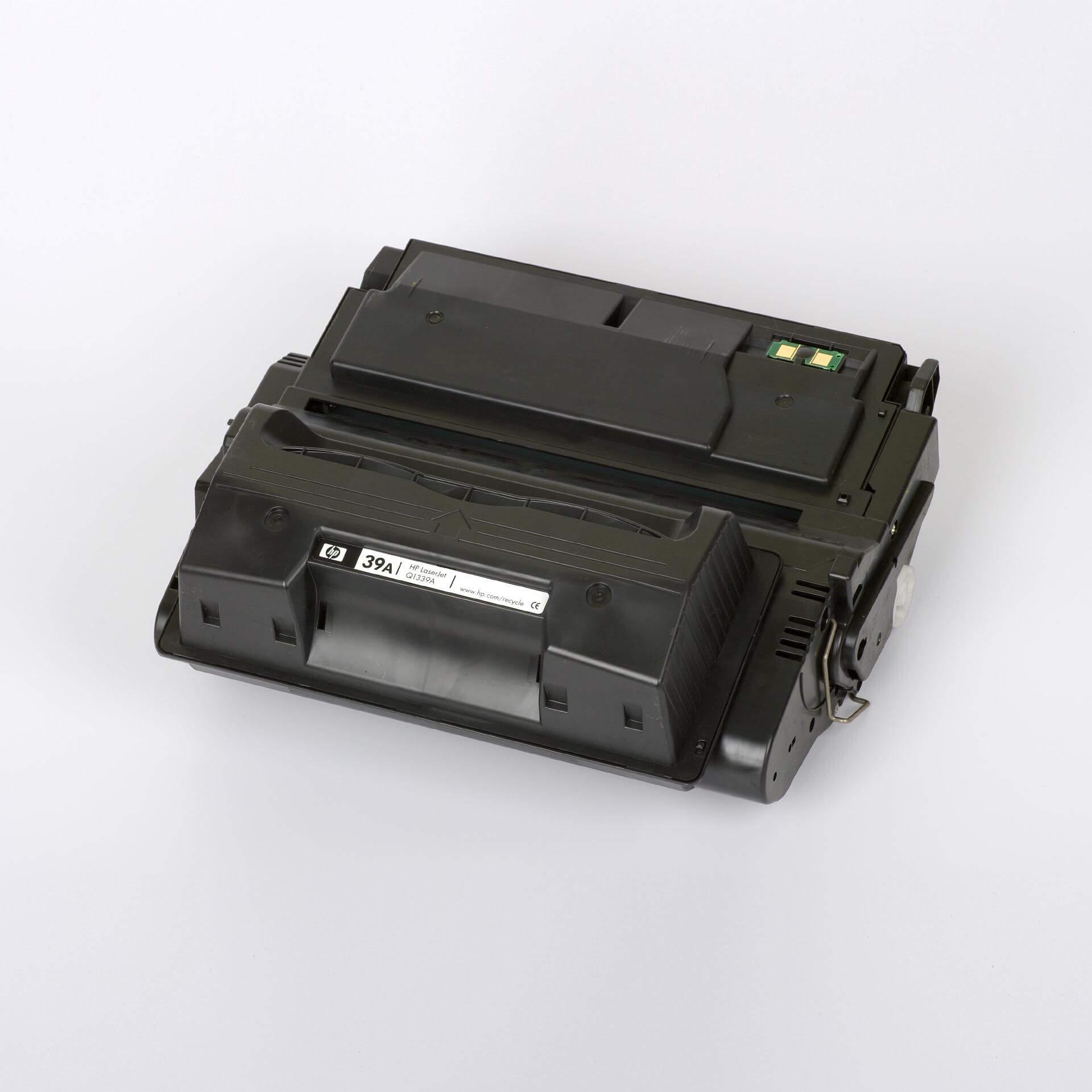 Auf dem Bild sehen Sie eine HP 39A (Q1339A)  Schwarz Original Druckkassette