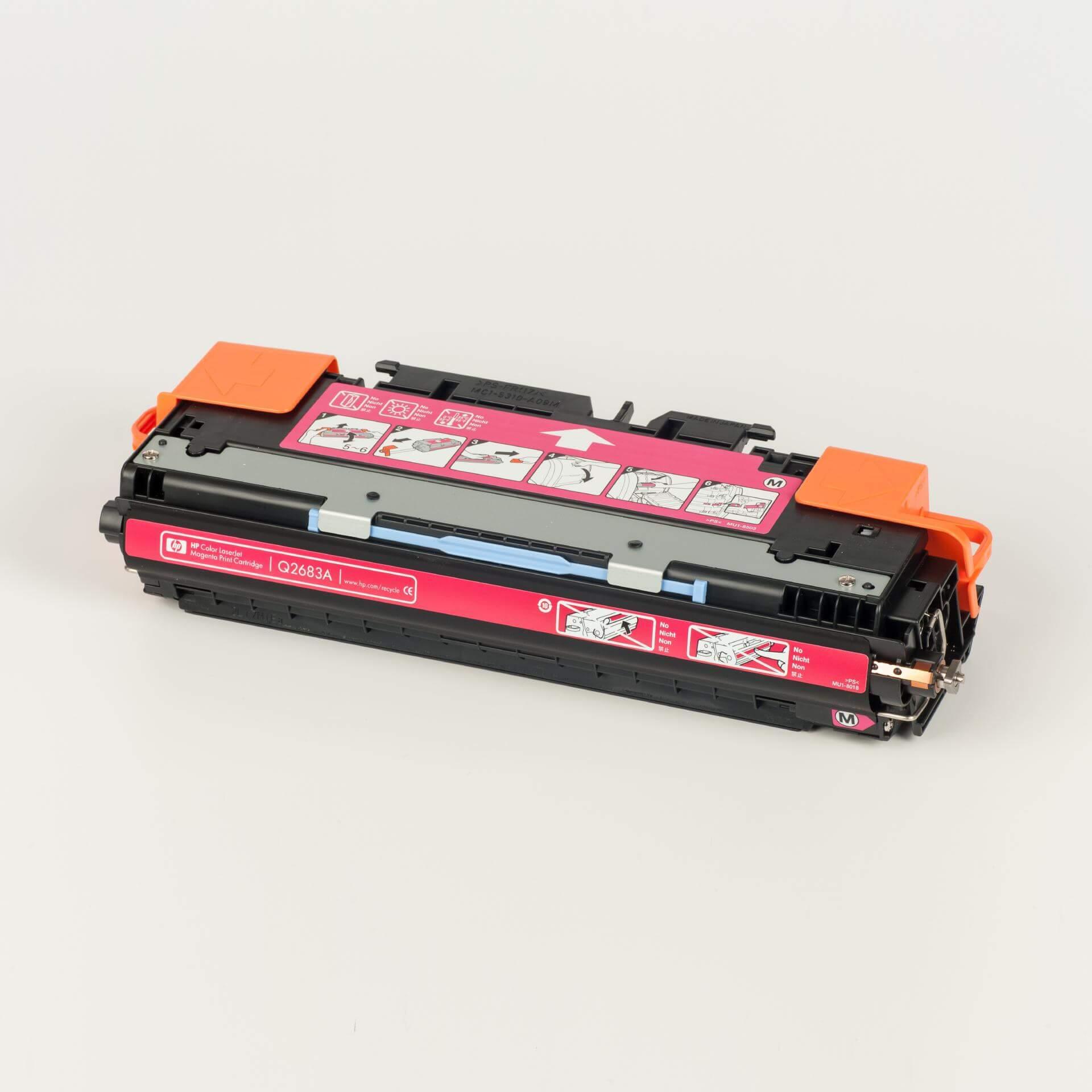 Auf dem Bild sehen Sie eine HP 311A (Q2683A) Rot Original Tonerkartusche
