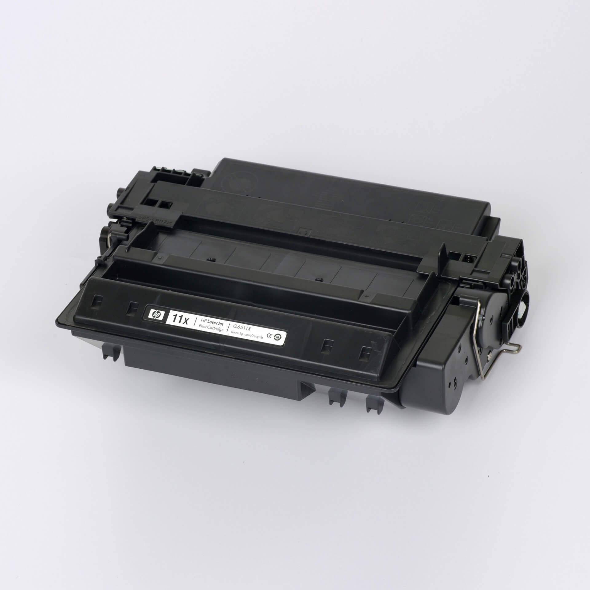 Auf dem Bild sehen Sie eine HP 11X (Q6511X) Schwarz Original Tonerkartusche