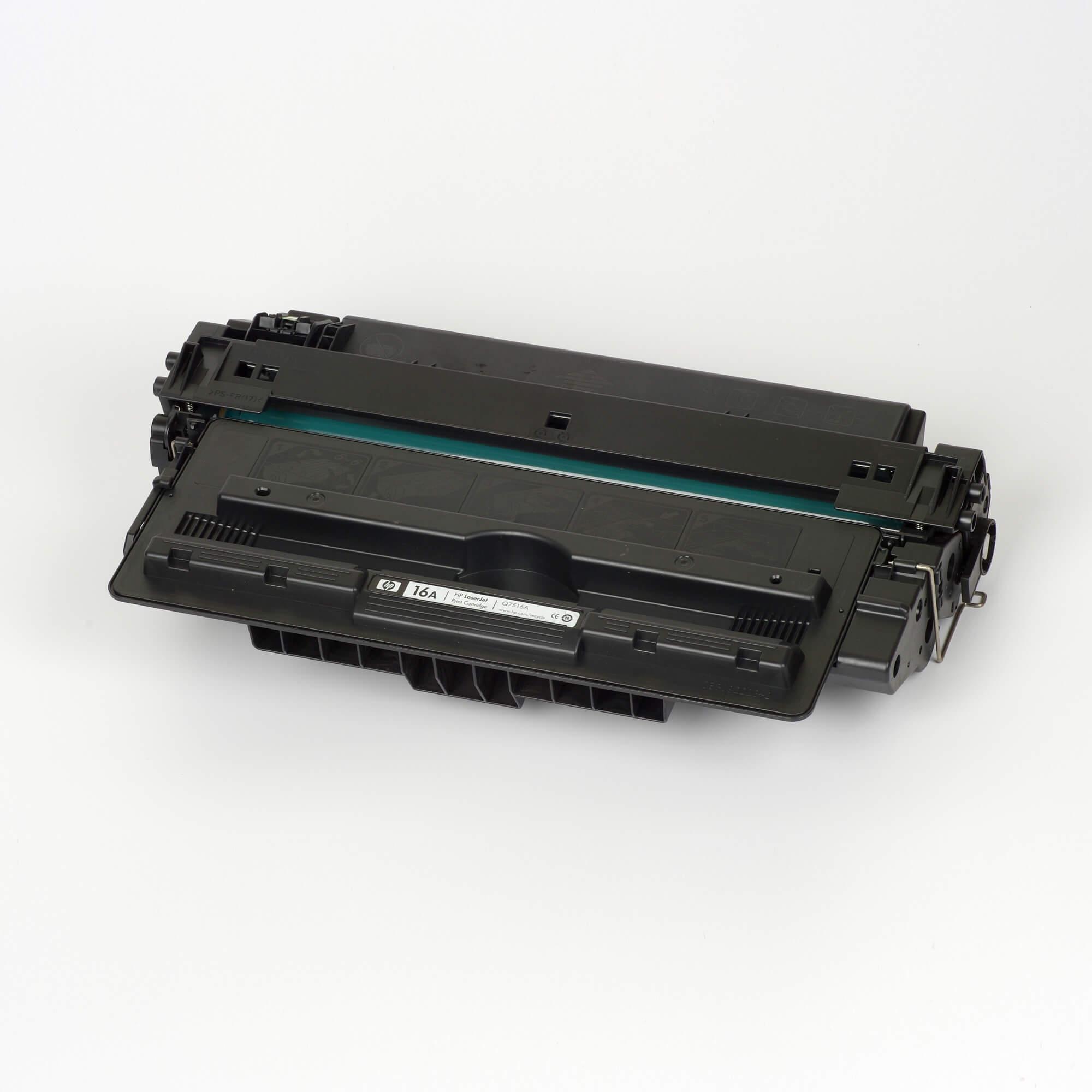Auf dem Bild sehen Sie eine HP 16A (Q7516A) Schwarz Original Tonerkartusche