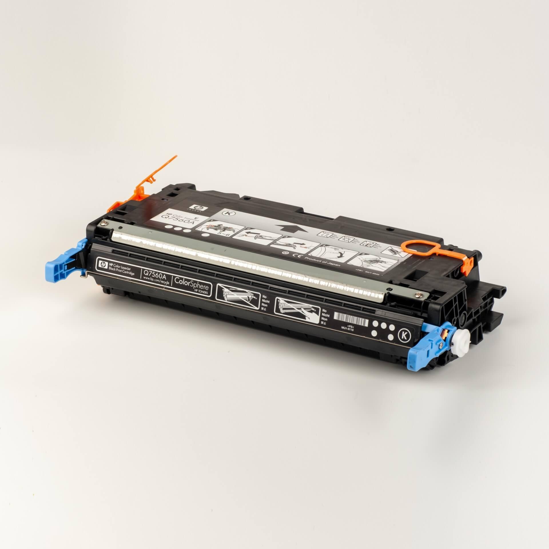 Auf dem Bild sehen Sie eine HP 314A (Q7560A) Schwarz Original HP Tonerkartusche