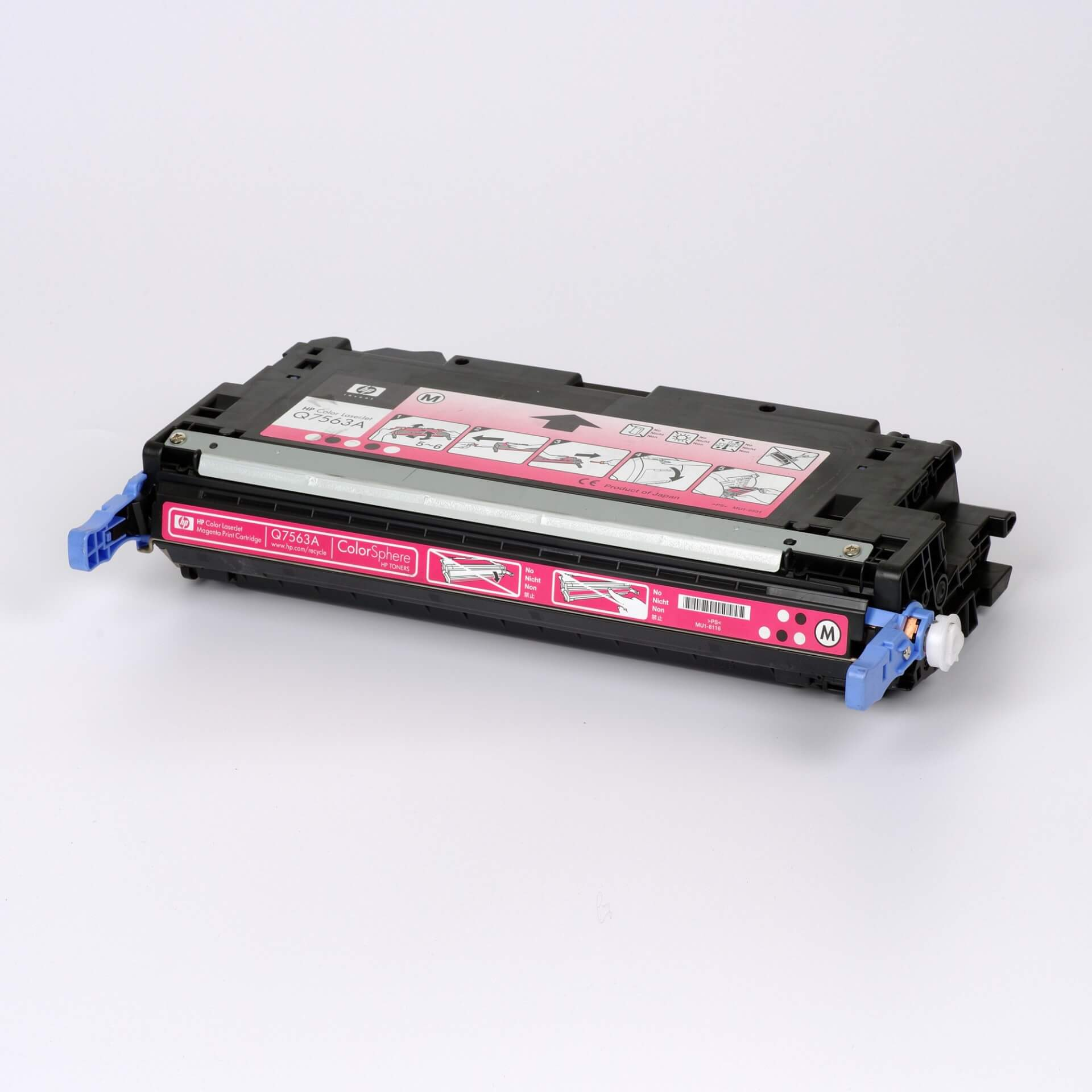Auf dem Bild sehen Sie eine HP 314A (Q7563A) Rot Original Tonerkartusche