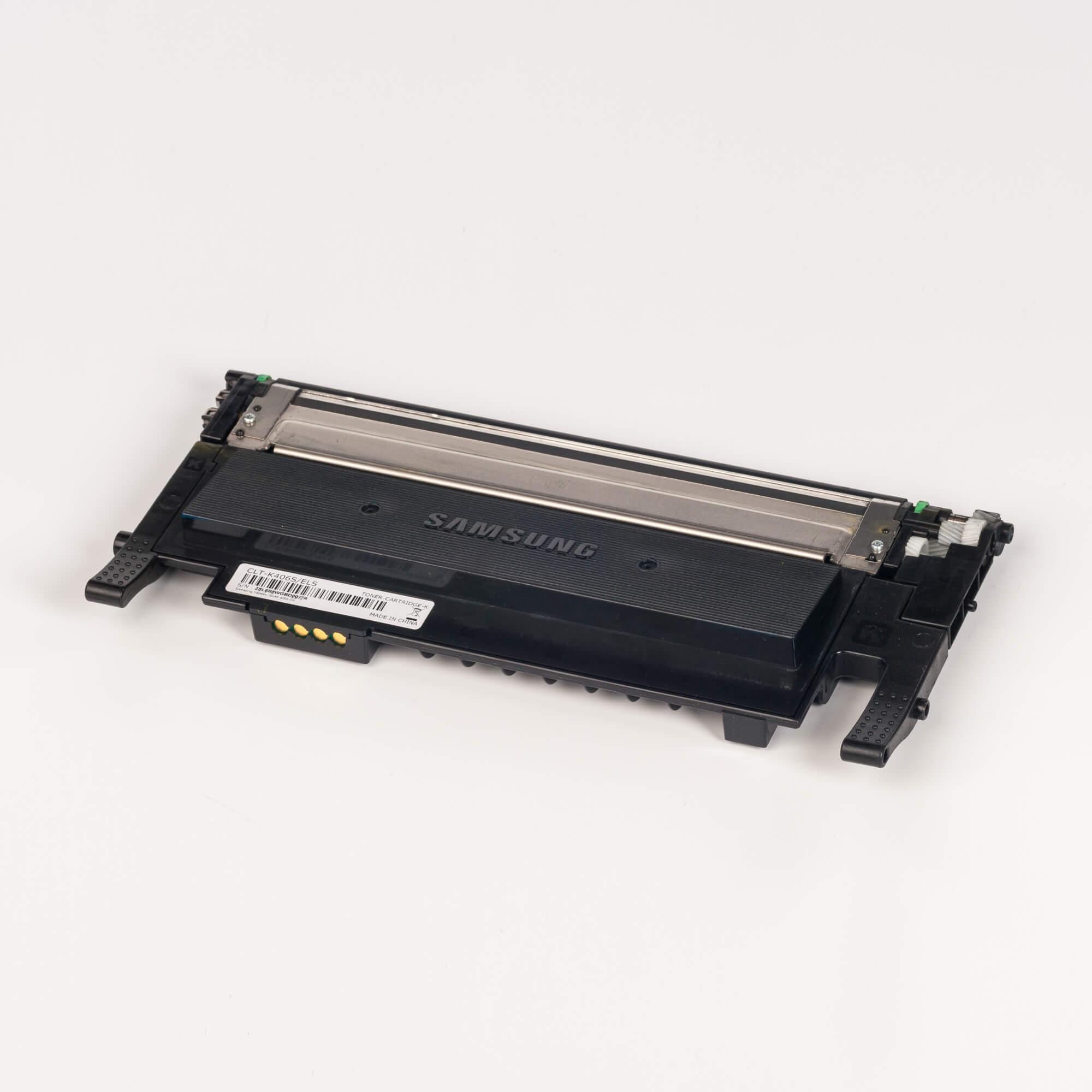 Auf dem Bild sehen Sie eine Samsung CLT-K406S/ELS Original Toner Schwarz