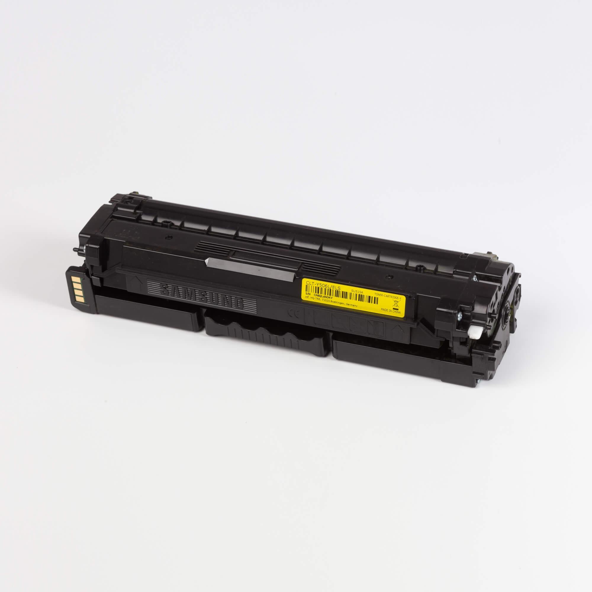 Auf dem Bild sehen Sie eine Samsung CLT-Y506L/ELS Original Toner gelb